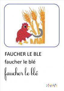 La petite poule rousse : imagier – MC en maternelle
