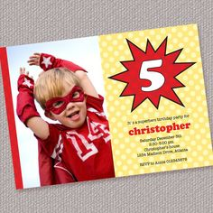 Superhero Personalized Custom Printable Photo by paperspice