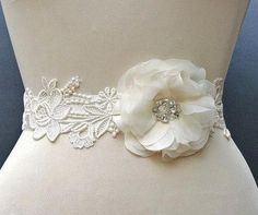 One of my favorite sashes...Hey, I found this really awesome Etsy listing at http://www.etsy.com/listing/95602278/bridal-sash-ivory-bridal-sash-lace