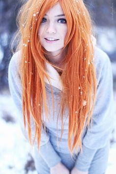 I love orange hair.