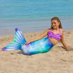 Mermaid Tails for Swimming by Fin Fun in Kids and Adult Sizes - Limited Edition - Monofin Not Included Fin Fun Mermaid Tails, Mermaid Swim Tail, Beach Mat, Walmart, Outdoor Blanket, Swimming, Bikinis, Kids, Swim