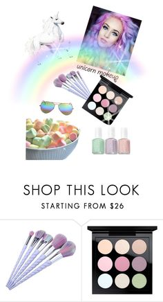 """""""Untitled #463"""" by gabbylara ❤ liked on Polyvore featuring beauty, MAC Cosmetics and Ray-Ban"""