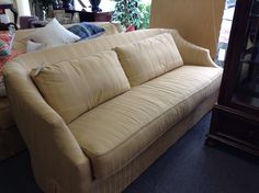 Henredon Sofa - Superb quality.  Excellent hardwood frame. Down filled cushions.  One of the nicest sofa,s we have ever had in the store.  You will not find a better constructed couch.  We have two of these excellent sofa,s      Item 824-2.  Price. $1400.00 each.  - http://takeitorleaveit.co/2015/06/30/henredon-sofa/
