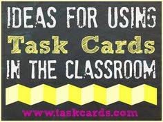 Task Card Website - how to use task cards and games you can play with them. Including how to play the game SCOOT!
