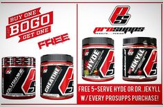 Buy one get one free for these ProSupps products!