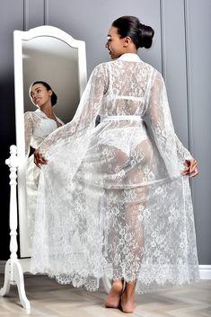 Lace Bridal Robe, Lace Bride, Bridal Robes, Wedding Lingerie, Wedding Kimono, Wedding Dresses, Kimono Dressing Gown, Bridesmaid Robes, Costume