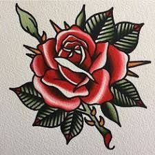 Image result for traditional tattoo flowers