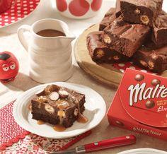 Maltesers® Chocolate Fudge Brownie with Salted Caramel Sauce