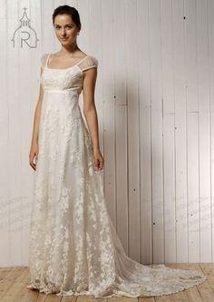 vintage lace wedding dresses cap sleeves - Google Search