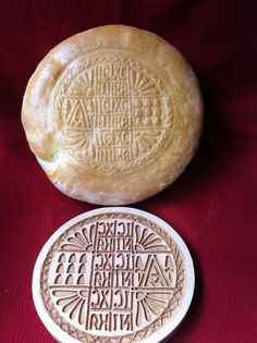 """Solid Maple Prosphora seal stamp press Holy Bread mold 7"""" By MyCookieMold .com"""