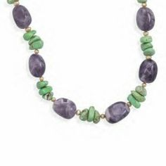 Amethyst and Multistone Necklace