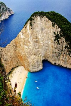 Look for the shipwreck at Navagio Beach. No wonder they call it Shipwreck Beach at times.