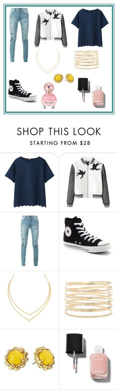"""Hermione Granger"" by bexie16 on Polyvore featuring Uniqlo, Yves Saint Laurent, Converse, Lana, Forever 21, Kate Spade, Chanel and Marc Jacobs"