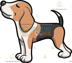 A Beagle Smelling Something Yummy :  A dog with light brown dark brownish gray and white short fur droopy ears grayish brown nose shutting its eyes while smelling something nice and fragrant  The post A Beagle Smelling Something Yummy appeared first on VectorToons.com.