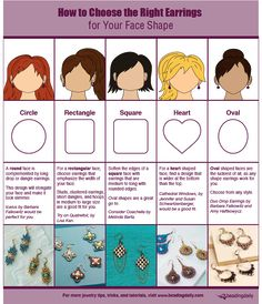 Learn how to choose the right earrings for your face shape like a PRO with this handy beading blog and infographic! #beading #earrings #faceshape