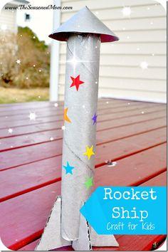 Rocket Ship Craft for Kids  www.TheSeasonedMom.com