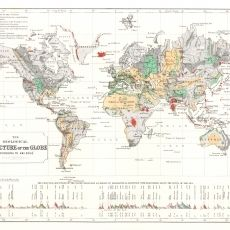 Antique Geology World Map Wallpaper - Ami Boué - £21.95