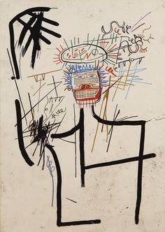 Jean-Michel Basquiat (American, 1960-1988), Untitled (Figure JMB #1), 1982