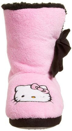 Free Ship Hello Kitty Pink Women's Short Bootie with Bow Size X-Large Sanrio, Hello Kitty Store, Hello Kitty Merchandise, Pajama Day, Cute Slippers, Hello Kitty Collection, Hello Kitty Wallpaper, Here Kitty Kitty, Baby Sewing
