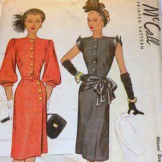 1940er Jahrgang McCall Printed Pattern von RosePetalResources