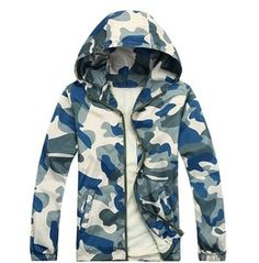 Mens Spring/Autumn Camouflage Hoodies Plus Sizes