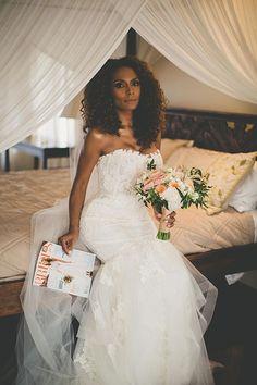 Brides: Janet Mock Wedding Photos: See Her Hawaiian Wedding to Aaron Tredwell