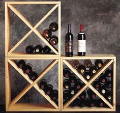 Pine wine rack cubes by Wine Cellar Depot make a flexible solution to your wine storage needs. Wine Bottle Storage, Wine Bottle Labels, Wine Bottles, Cool Wine Racks, Cellar Inspiration, Wine Kits, Wine Case, Caves, Home Brewing
