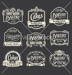 Vintage sign banner and ribbon design set vector - by rtguest on VectorStock®