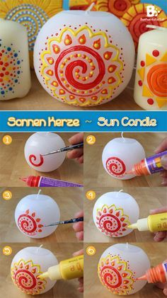 Seasonal candles tutorial and inspiration for Midsummer.