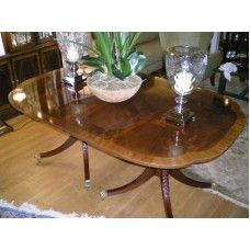 Baker Neo Classical Mahogany Dining Room Table Dining