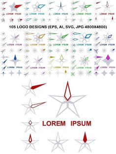 105 Star Logo Designs #LogoInspiration #design #stars #LogoIdeas #pentagram #behance #logo #design #eps #icon #GraphicDesign #abstract #AbstractLogos #logo #set #LogoDesign #star #hexagram #vector #graphic Logo Inspiration, Best Logo Design, Graphic Design, Star Logo, Abstract Logo, Logo Nasa, Lorem Ipsum, Vectors, Fonts