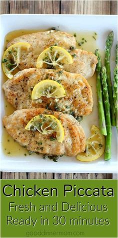 Chicken Piccata. Keep it simple and focus on bright, fresh flavors for a company worthy dish that is done in less than 30 minutes. #recipes #cooking #cooking #easyrecipes #30minuterecipes Lunch Recipes, Easy Dinner Recipes, Breakfast Recipes, Healthy Recipes, Dinner Ideas, Breakfast Ideas, Free Recipes, Poulet Piccata, Chicken Piccata