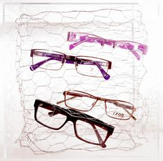 Merchandising Tip: If you own an optical, above is a neat way to expose your eyewear with a summer theme. The theme is called 'Tangled'. The top frame is 'Libra' by Plume Paris and the bottom frame is 'Niko' by Dolabany Eyewear.