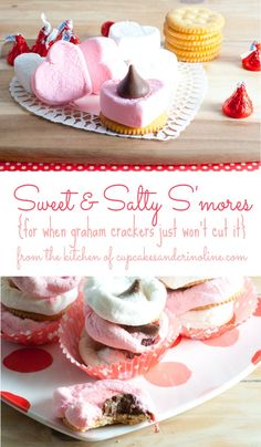 sweet and salty s'mores ~ S'mores made with Ritz Crackers from cupcakesandcrinoline.com