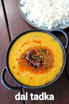 dal tadka recipe, yellow dal tadka, restaurant style dal fry tadka with step by step photo/video. lentil based curry with split pea lentil & indian spices. Veg Recipes, Spicy Recipes, Curry Recipes, Kitchen Recipes, Vegetarian Recipes, Cooking Recipes, Lentil Recipes, Dal Fry, Chaat Recipe