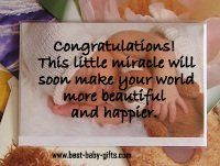 sample messages for baby shower cards