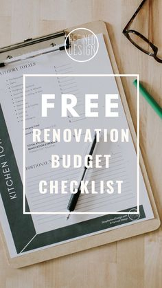 home renovation Free renovation budget checklist - a comprehensive list of everything you need to budget for during your next remodel. Free planning pdf - lists everything you need to purchase for your reno project so you can plan your budget. Layout Design, Design Ideas, Renovation Budget, Budget Planer, Home Remodeling Diy, Design Your Dream House, Home Upgrades, Trendy Home, Home Projects