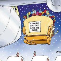 Christmas Humor: Funny sign on the back of Santa's sleigh