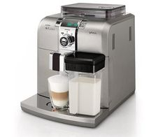 Wake up in style with this compact cappuccino machine! Stainless steel.