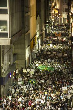 Protestos em São Paulo, Brasil