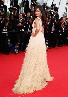 """Freida Pinto at the """"Saint Laurent"""" Premiere during the 67th Annual Cannes Film Festival."""
