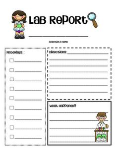 perfect little lab report for simple science experiments