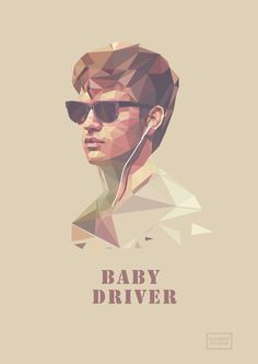 LowPoly Poster (fanart) Baby Driver