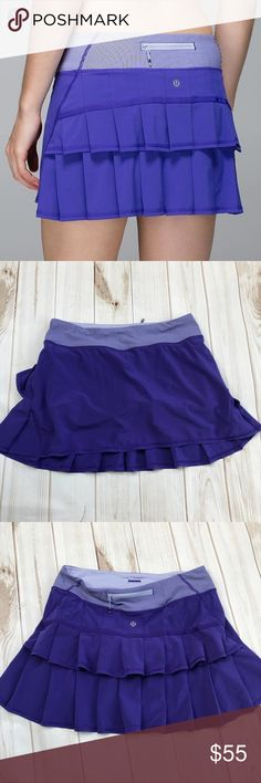 """Lululemon Pacesetter Purple Skirt Super cute hard to find pacesetter skirt in excellent condition. Skirt is 13"""" long with built in shorts. lululemon athletica Skirts"""