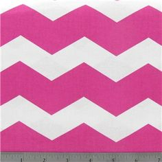 "$6.99/yd Pink & White Chevron Fabric 43-45"" wide looks like 3"" horizontal repeat"