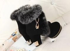 Gilded Square Heel - Ladies Winter Fur Boots Materials Used: Fur, FlockHeel Height: High Fits true to size, take your normal sizeClosure Type: Zip Classy Christmas, Christmas Gifts For Girls, Winter Fashion Boots, Winter Boots, Cute Snow Boots, Fur Boots, Lace Weddings, Trendy Dresses, Lady