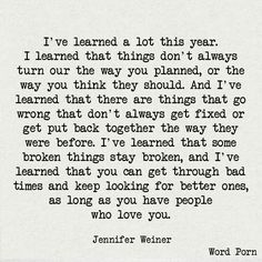 ...that some broken things stay broken...