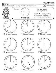 Telling Time is my Superpower {Telling Time to the Hour} W