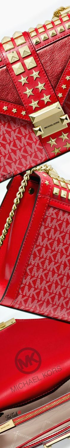 Gold Fashion, Red Gold, Fashion Accessories, Michael Kors, Stars, Hand Bags, Creative, Convertible, Leather