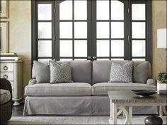 Oyster Bay Stowe Slipcover Sofa Gray